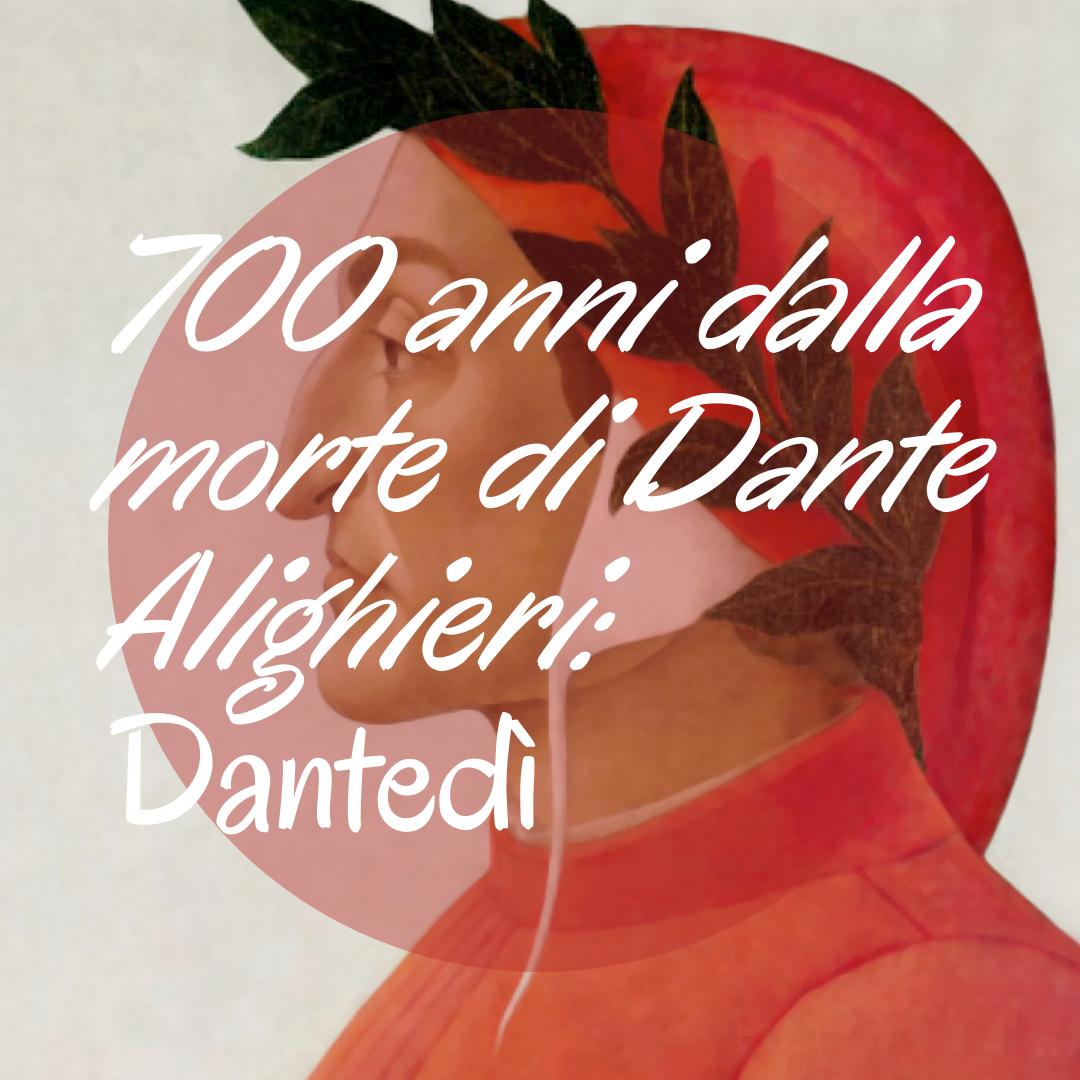 Per occasione dei 700 anni dalla morte di Dante Alighieri, ho scritto quattro post a lui dedicati. Quindi, vi consiglio di leggerli per conoscere un po' della vita e dell'opera del sommo poeta.